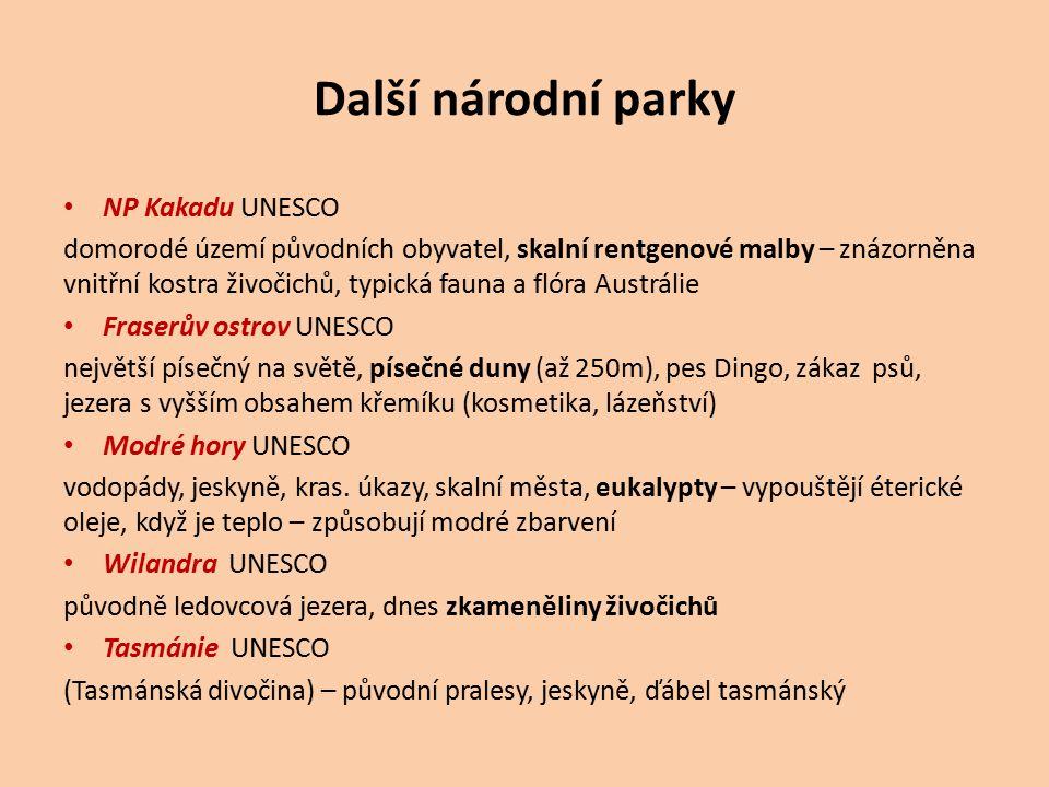 Další národní parky NP Kakadu UNESCO