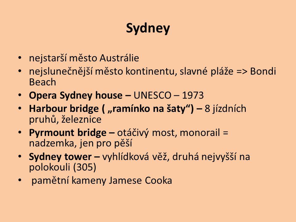 Sydney nejstarší město Austrálie