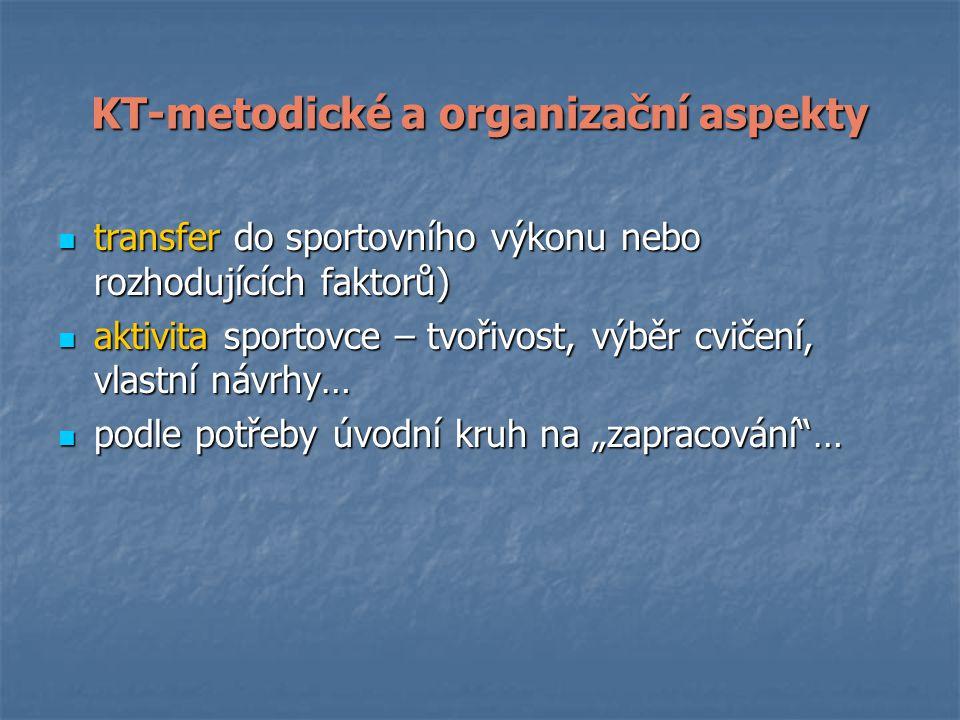 KT-metodické a organizační aspekty