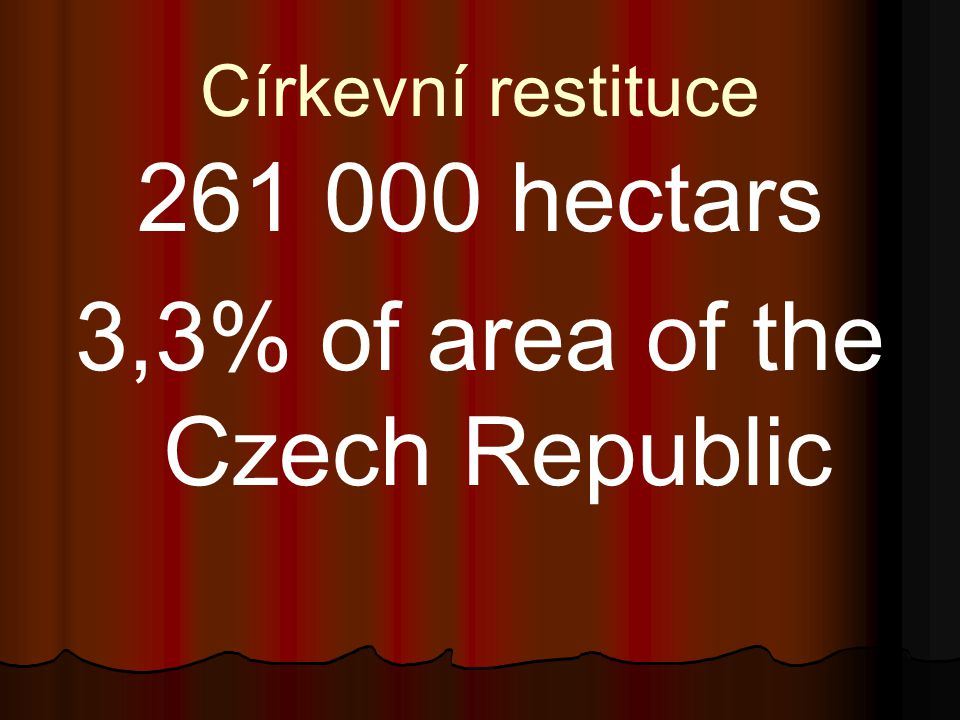 3,3% of area of the Czech Republic