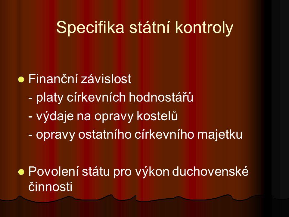 Specifika státní kontroly
