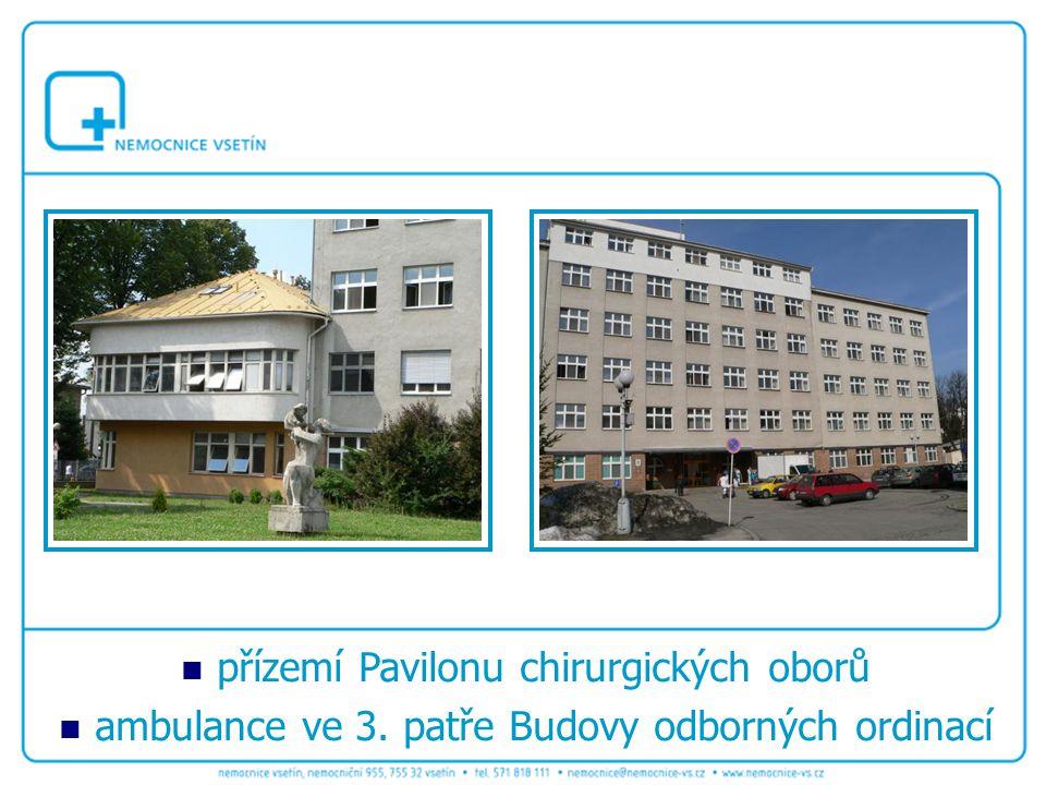 přízemí Pavilonu chirurgických oborů