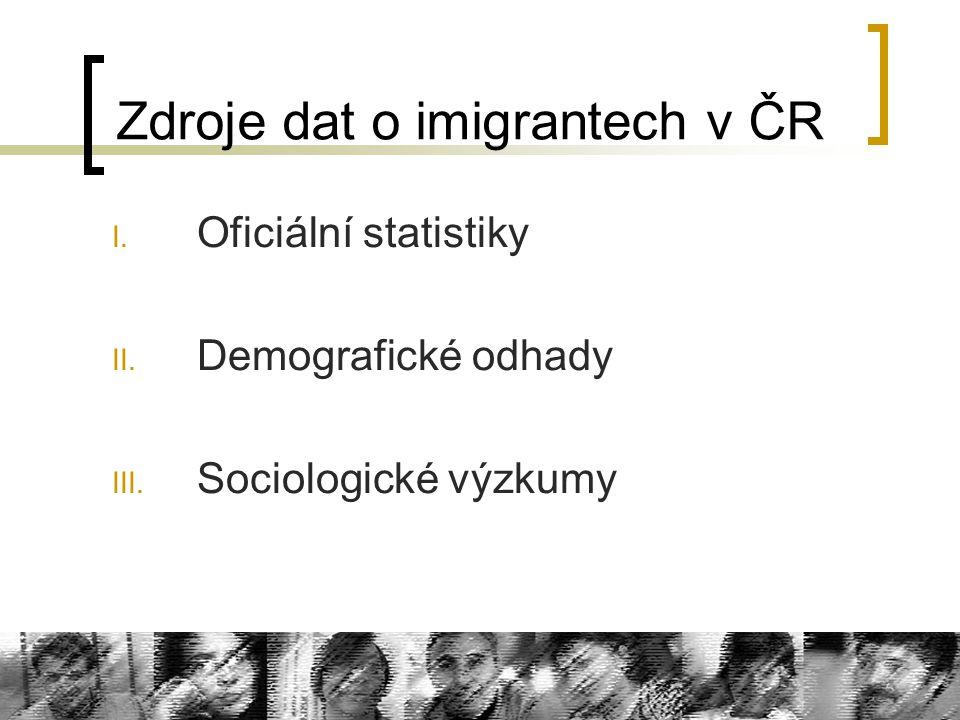 Zdroje dat o imigrantech v ČR