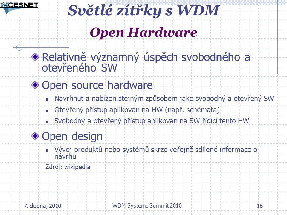 Světlé zítřky s WDM Open Hardware