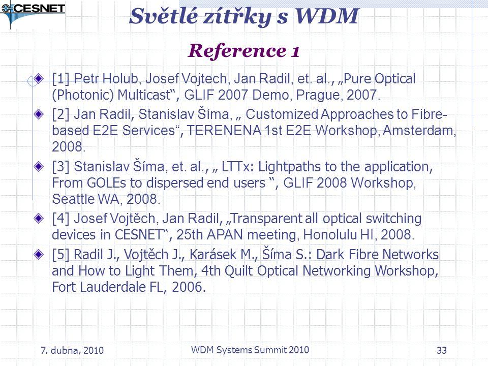 Světlé zítřky s WDM Reference 1