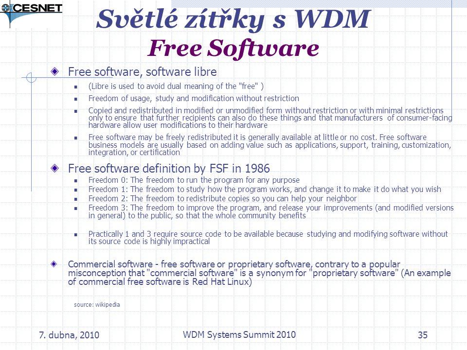 Světlé zítřky s WDM Free Software
