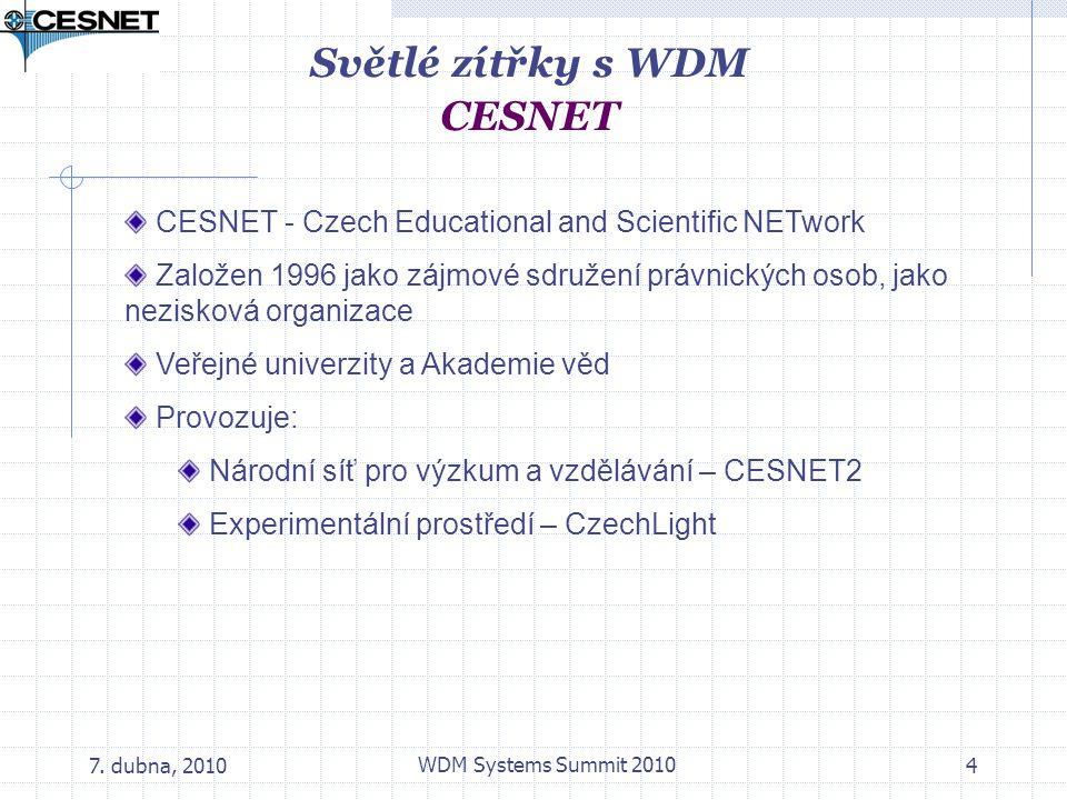 Světlé zítřky s WDM CESNET