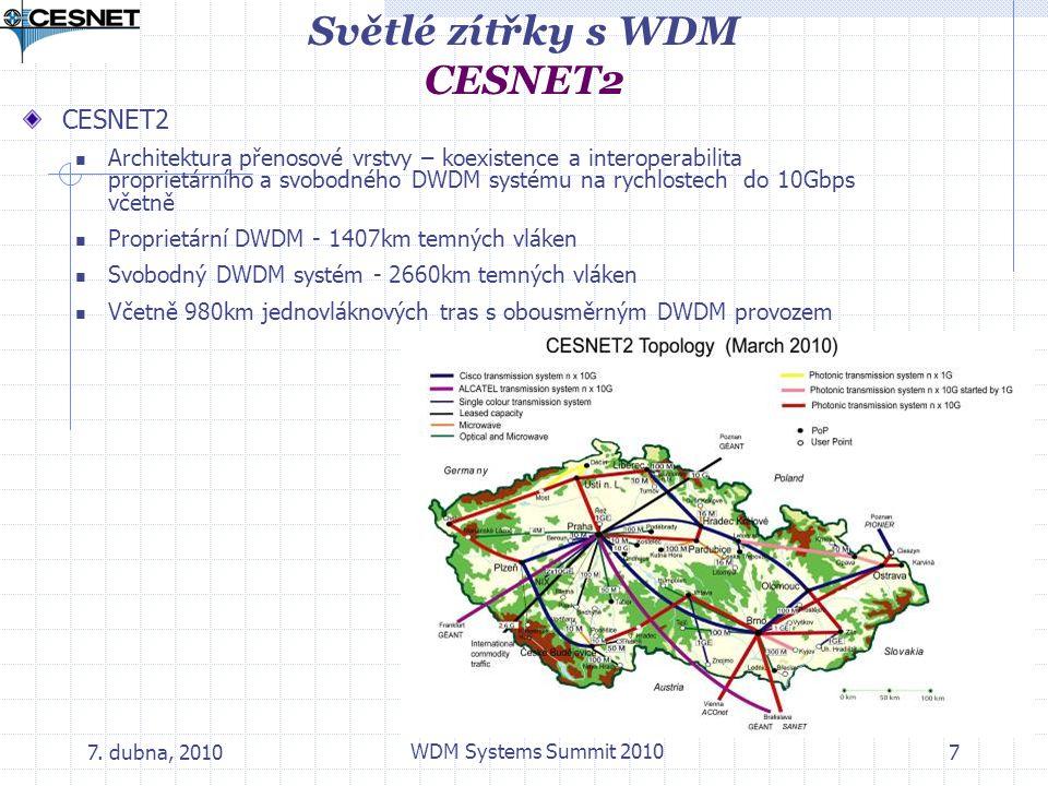 Světlé zítřky s WDM CESNET2