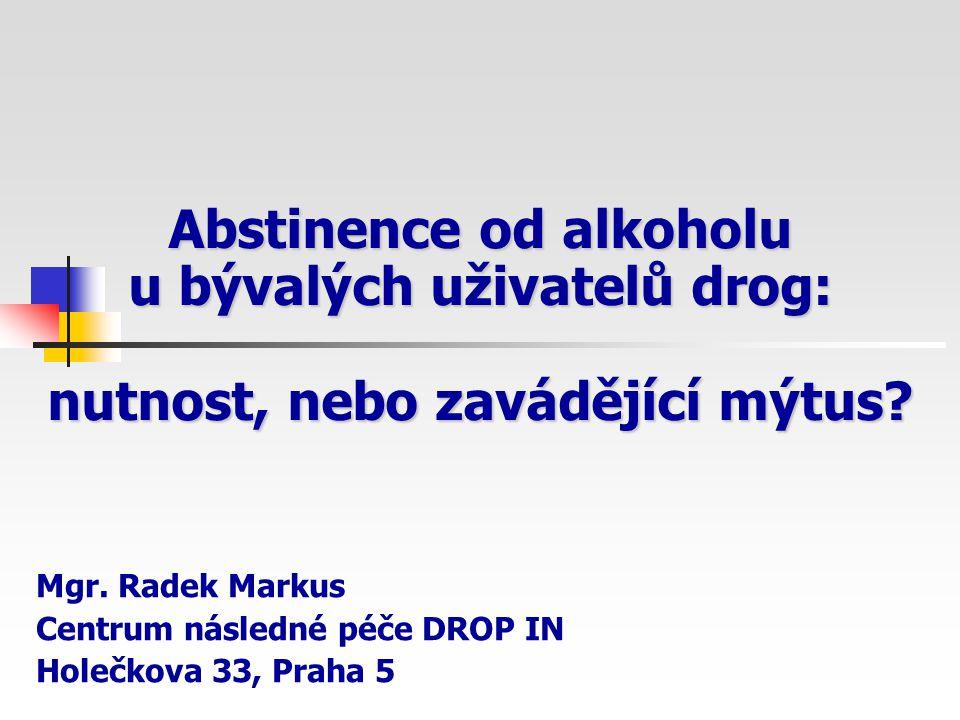 Mgr. Radek Markus Centrum následné péče DROP IN Holečkova 33, Praha 5
