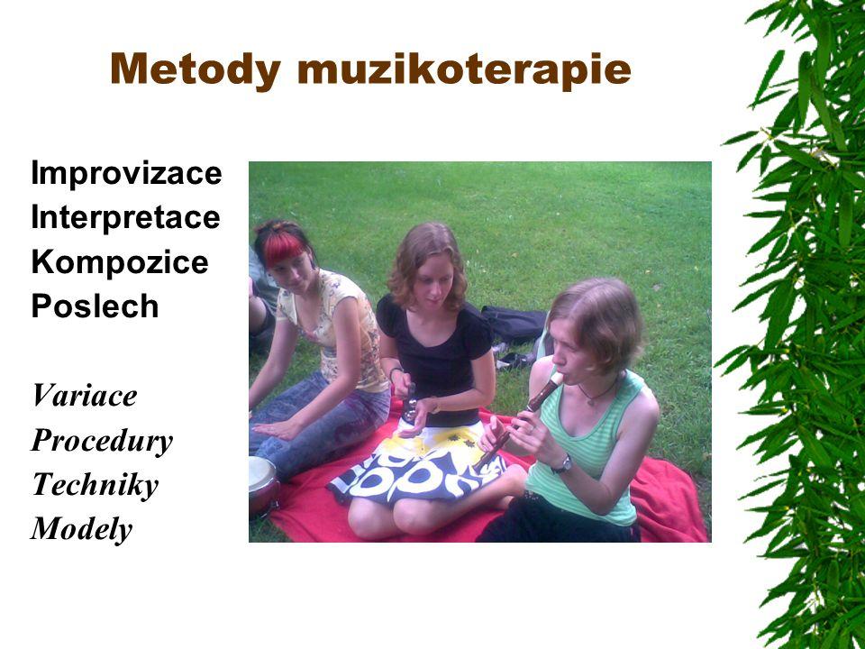 Metody muzikoterapie Improvizace Interpretace Kompozice Poslech