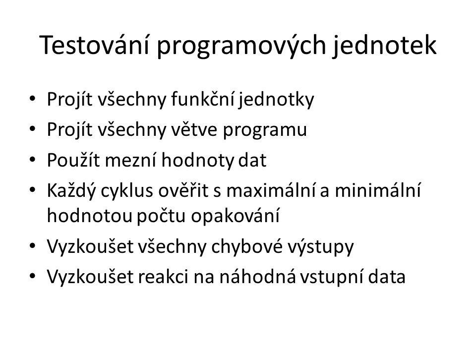 Testování programových jednotek