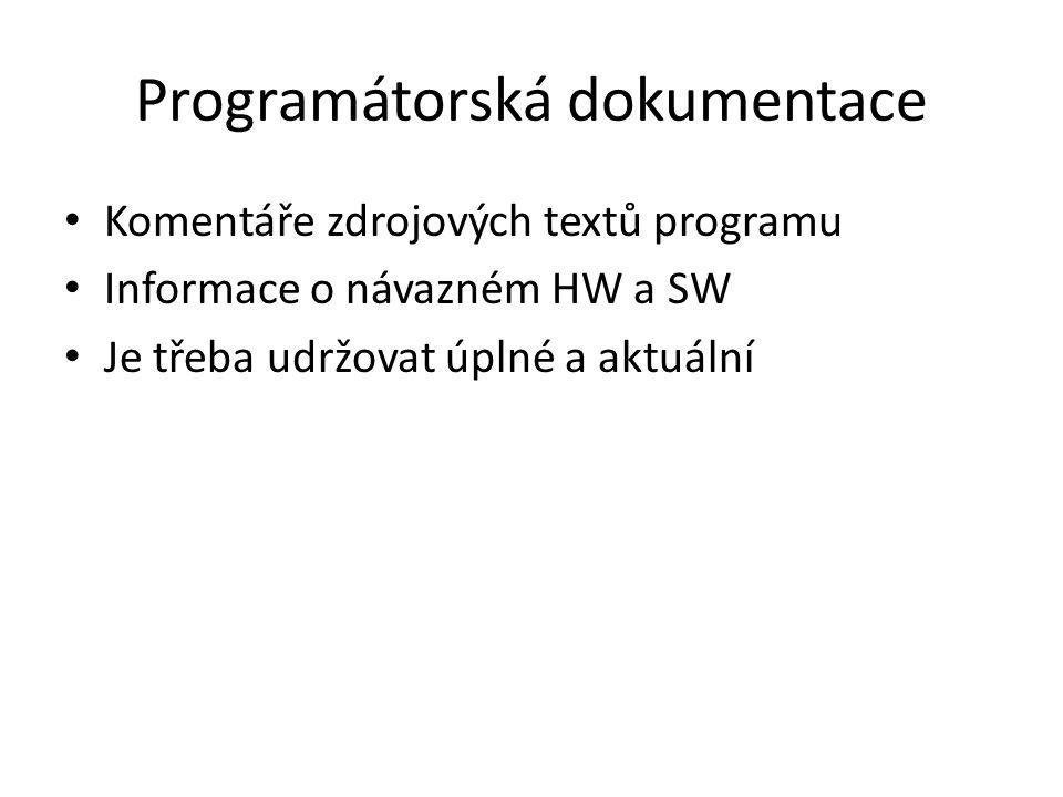 Programátorská dokumentace
