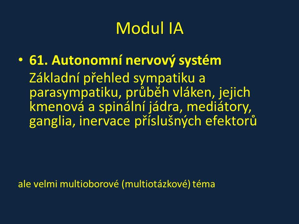 Modul IA 61. Autonomní nervový systém