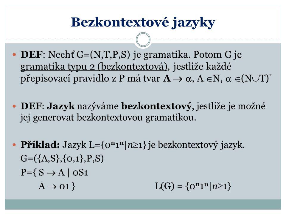 Bezkontextové jazyky