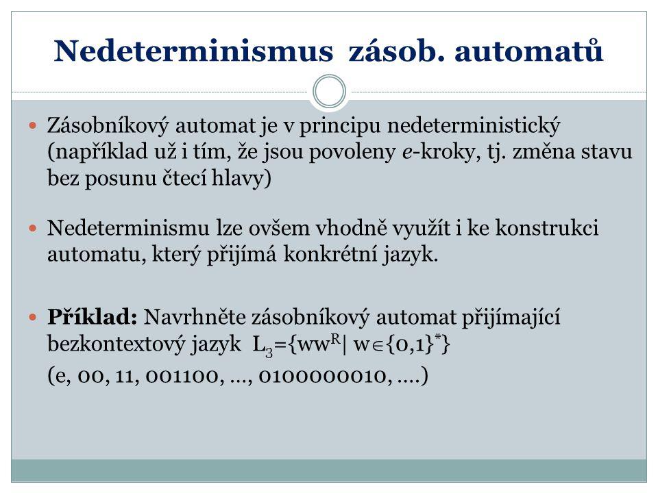 Nedeterminismus zásob. automatů