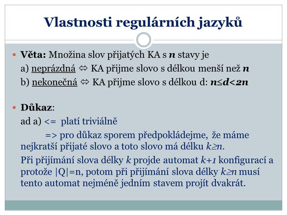 Vlastnosti regulárních jazyků