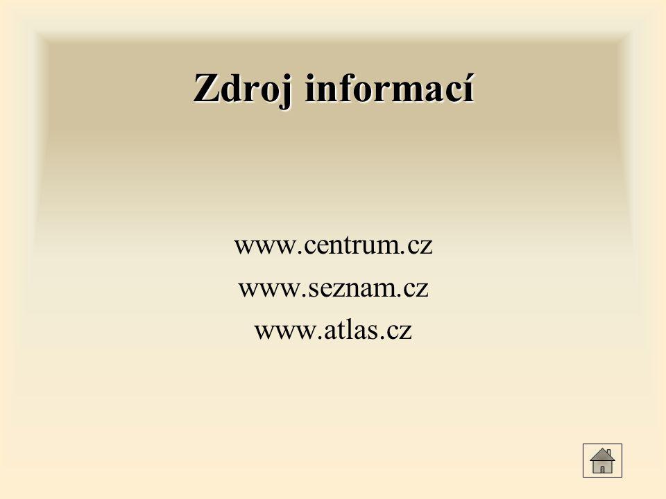 Zdroj informací www.centrum.cz www.seznam.cz www.atlas.cz