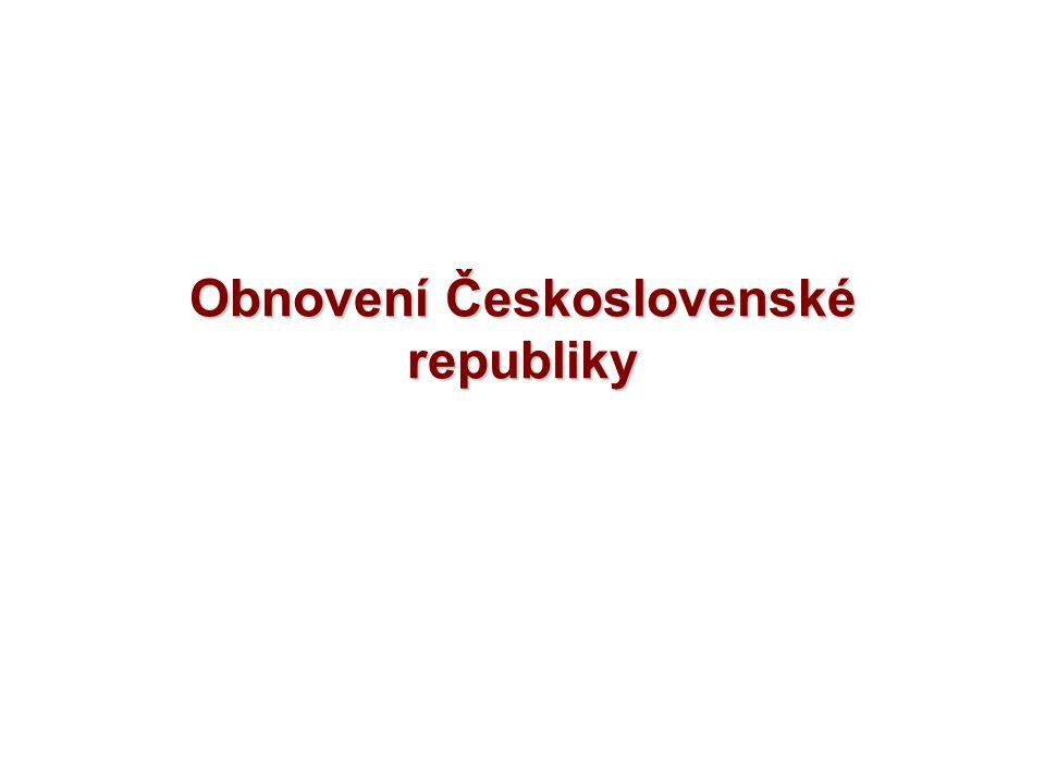 Obnovení Československé republiky