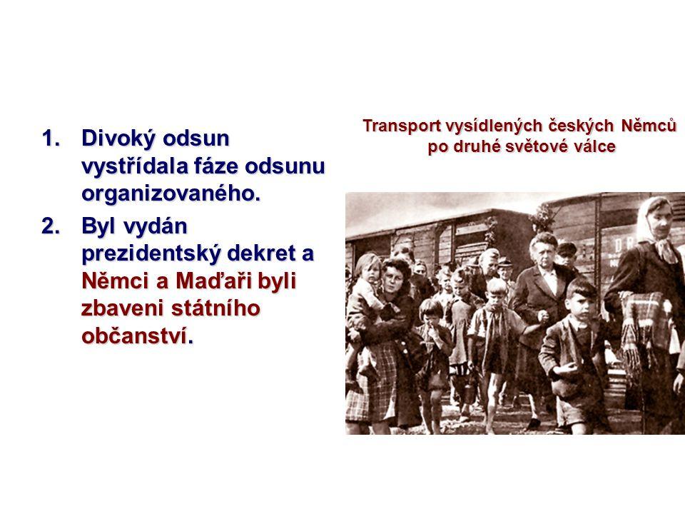 Transport vysídlených českých Němců