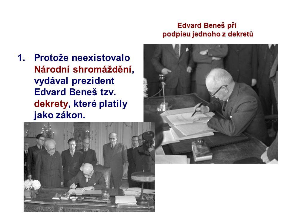 podpisu jednoho z dekretů