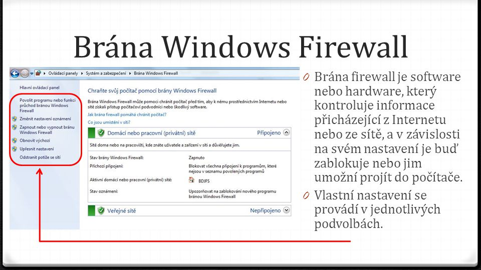 Brána Windows Firewall