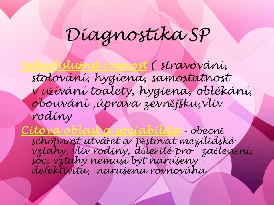 Diagnostika SP