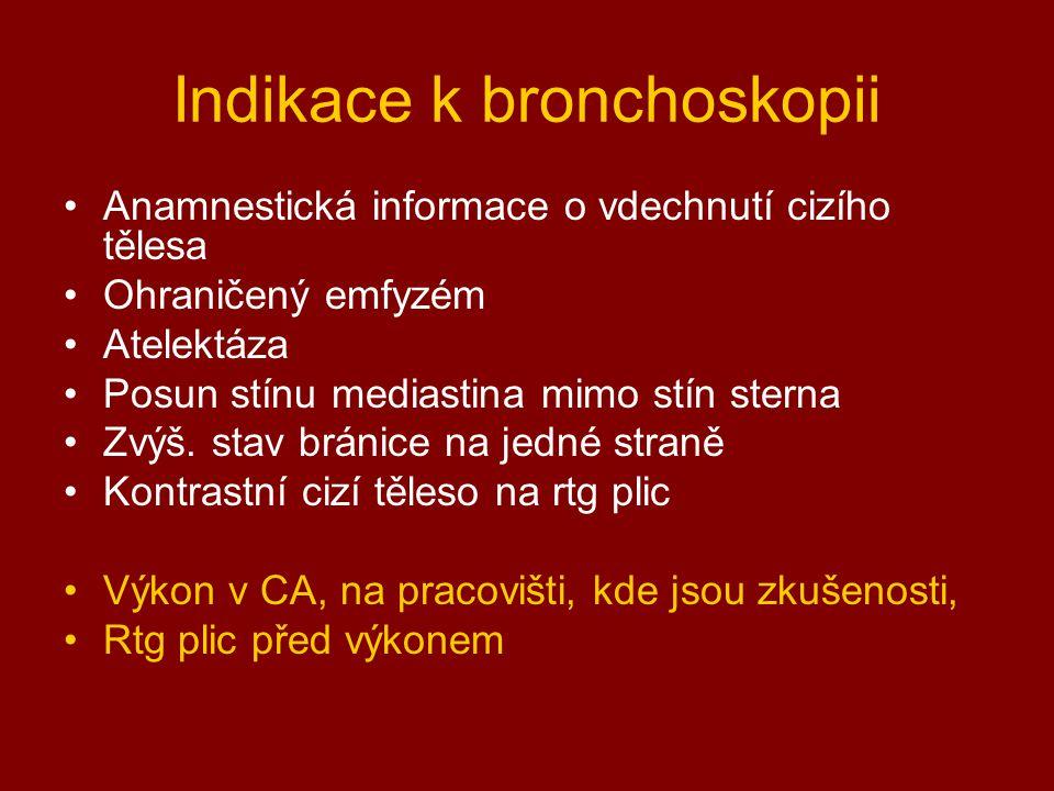 Indikace k bronchoskopii