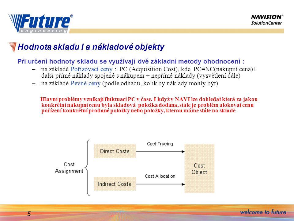 Hodnota skladu I a nákladové objekty