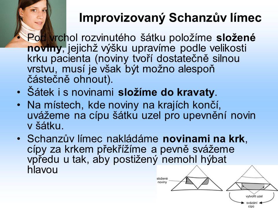 Improvizovaný Schanzův límec