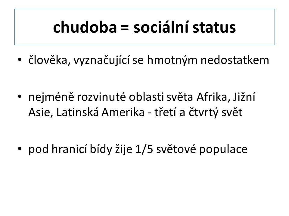chudoba = sociální status