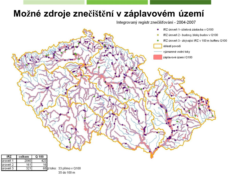 Možné zdroje znečištění v záplavovém území