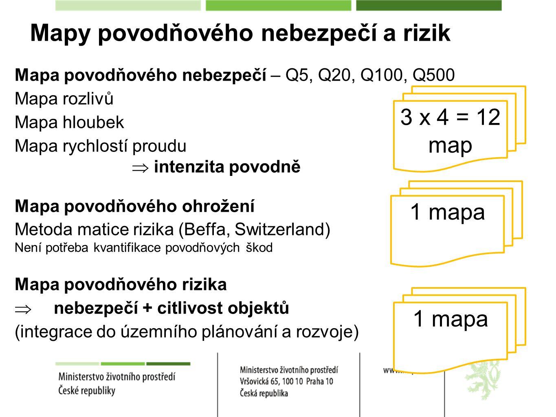 Mapy povodňového nebezpečí a rizik