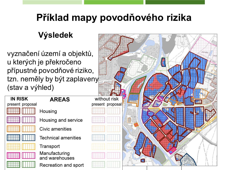 Příklad mapy povodňového rizika