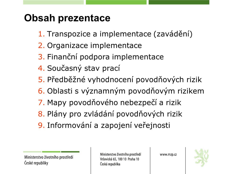 Obsah prezentace Transpozice a implementace (zavádění)