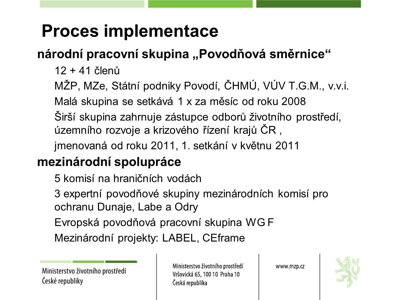 """Proces implementace národní pracovní skupina """"Povodňová směrnice"""