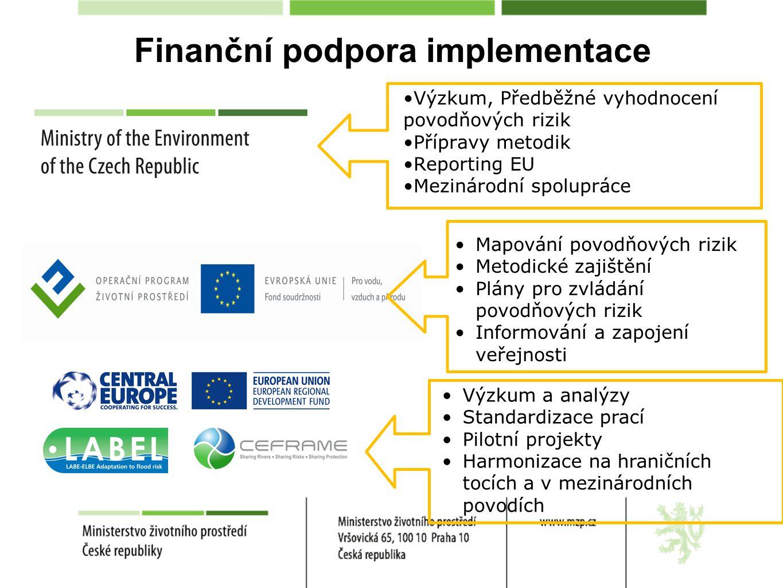 Finanční podpora implementace
