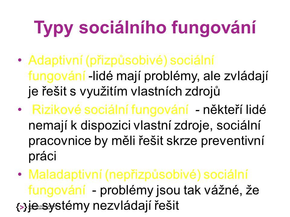 Typy sociálního fungování