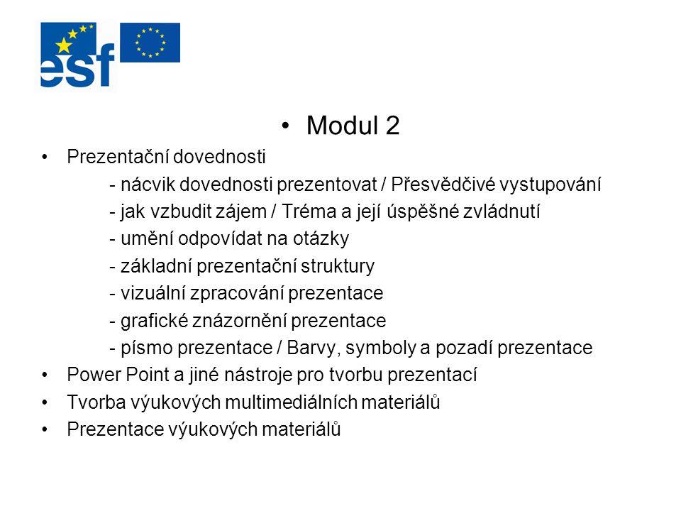 Modul 2 Prezentační dovednosti