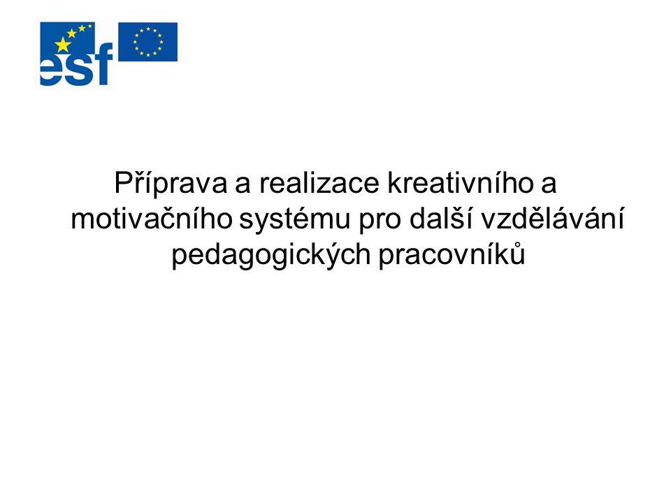 Příprava a realizace kreativního a motivačního systému pro další vzdělávání pedagogických pracovníků
