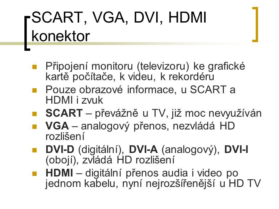 SCART, VGA, DVI, HDMI konektor
