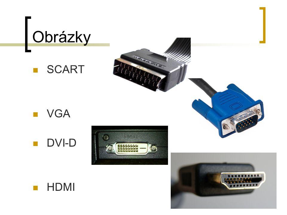 Obrázky SCART VGA DVI-D HDMI