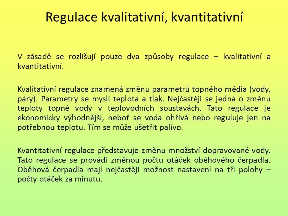 Regulace kvalitativní, kvantitativní