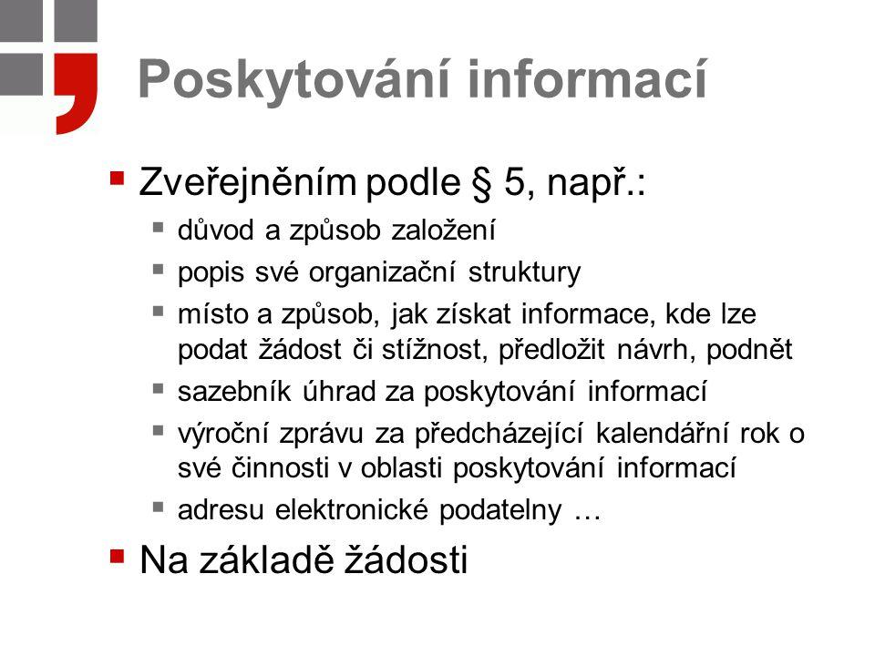 Poskytování informací
