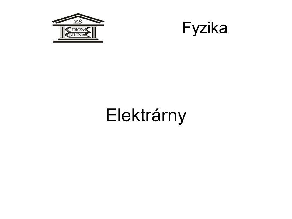 Fyzika Elektrárny