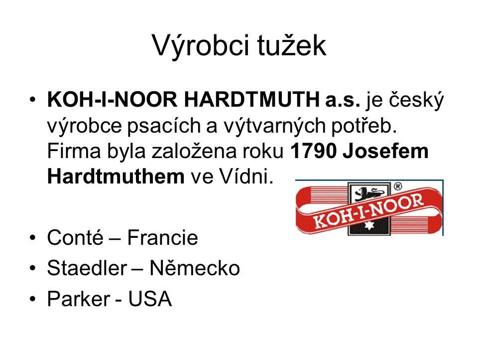 Výrobci tužek KOH-I-NOOR HARDTMUTH a.s. je český výrobce psacích a výtvarných potřeb. Firma byla založena roku 1790 Josefem Hardtmuthem ve Vídni.