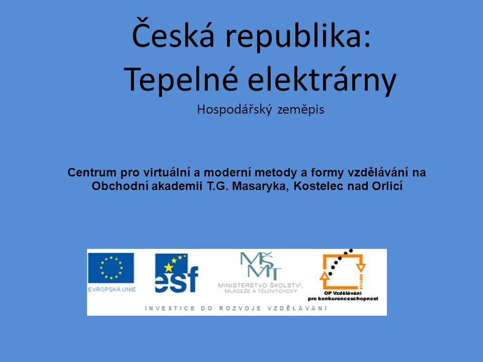 Česká republika: Tepelné elektrárny Hospodářský zeměpis