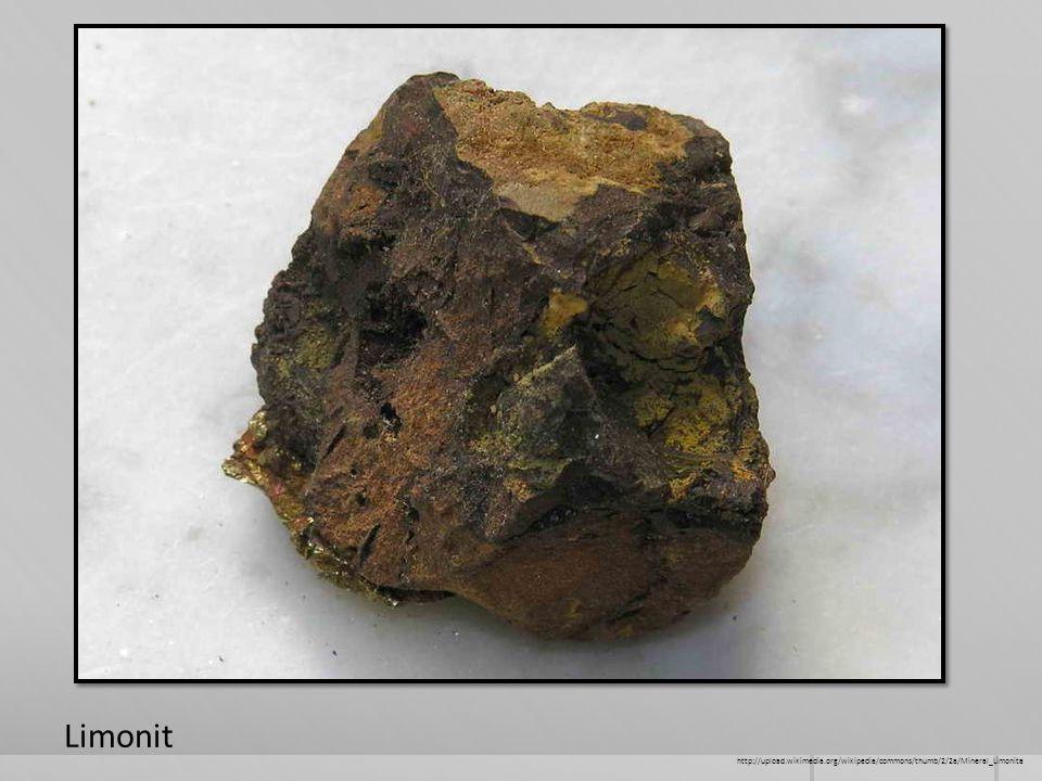 Limonit http://upload.wikimedia.org/wikipedia/commons/thumb/2/2a/Mineral_Limonita