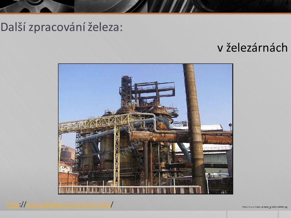 Další zpracování železa: