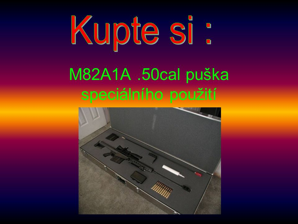 M82A1A .50cal puška speciálního použití