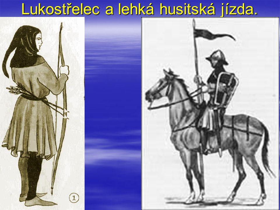 Lukostřelec a lehká husitská jízda.